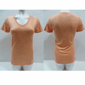 Nike top Small Dri-Fit v-neck space dye